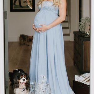 Fillyboo maternity dress zippora - soft blue